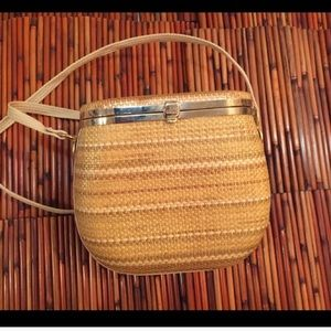 Rare Vintage Straw bag. Made in Italy.